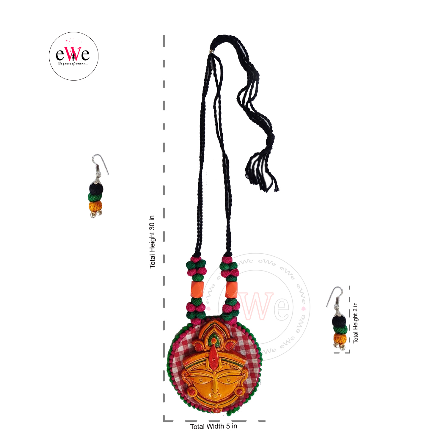 Handmade Handloom Fabric Jewellery Sets
