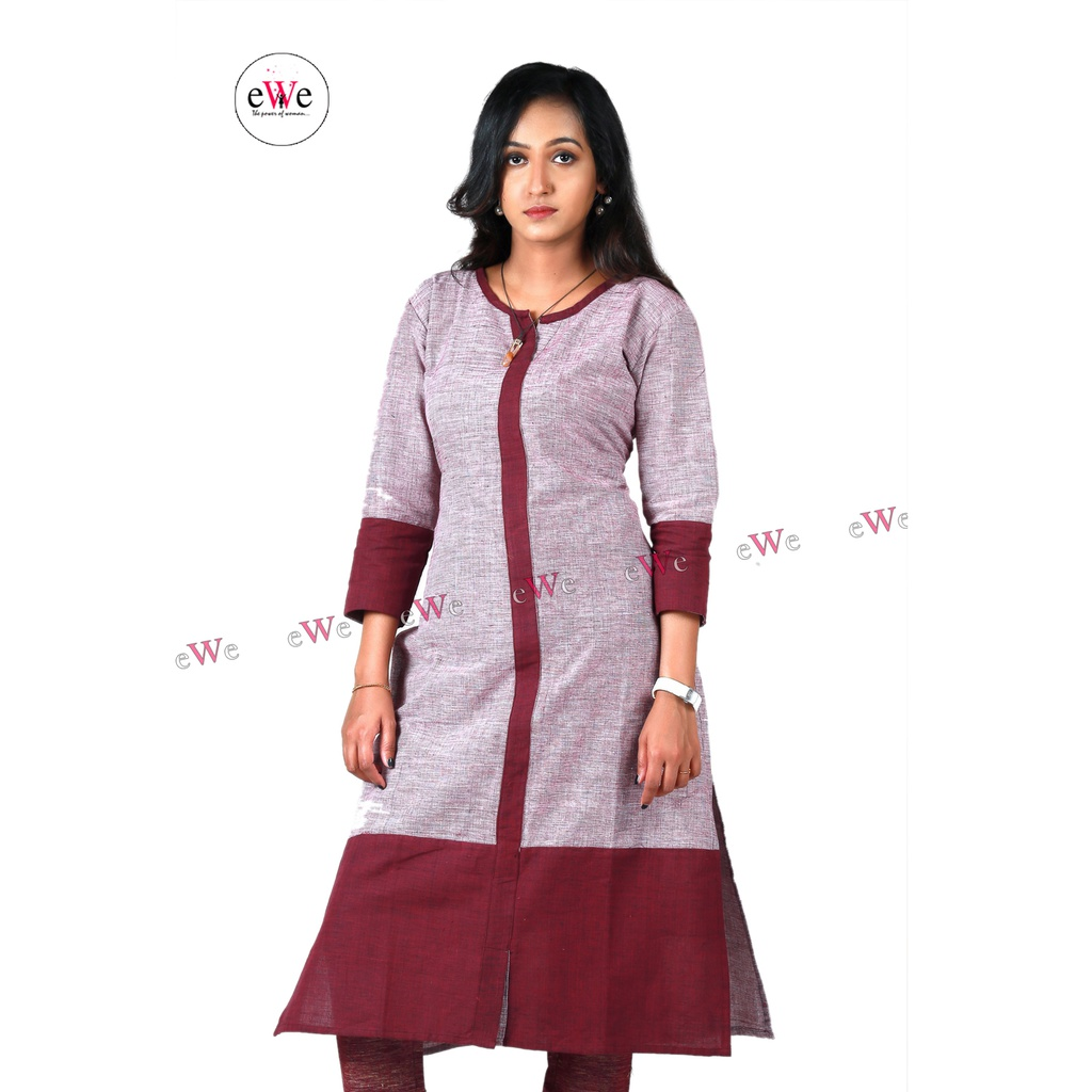 Khadi Designer Kurti (Grape)