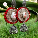 Trendy Handmade Hangings with Jute thread and Shankh Along with Silver tone Jhumka